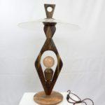 Lampada da tavolo in olivo