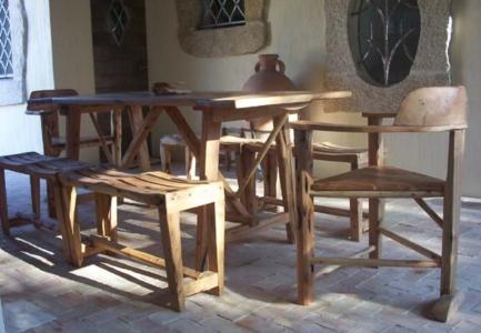 Tavolo e panche ginepro